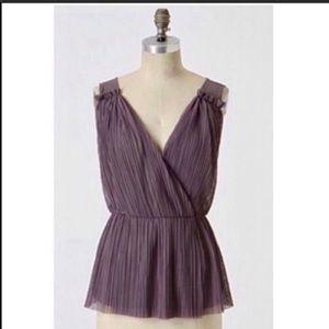Anthropologie Deletta Purple Drape Blouse